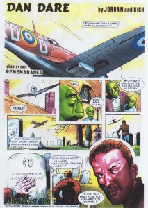 The first and only DAN DARE strip by Sydney Jordan: published in the PLANET ON SUNDAY  in 1996