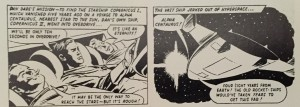 "Dan's first foray into the newspaper strip. ""Mission to the stars"" by Don Harley first appeared in the PEOPLE in March 1964"