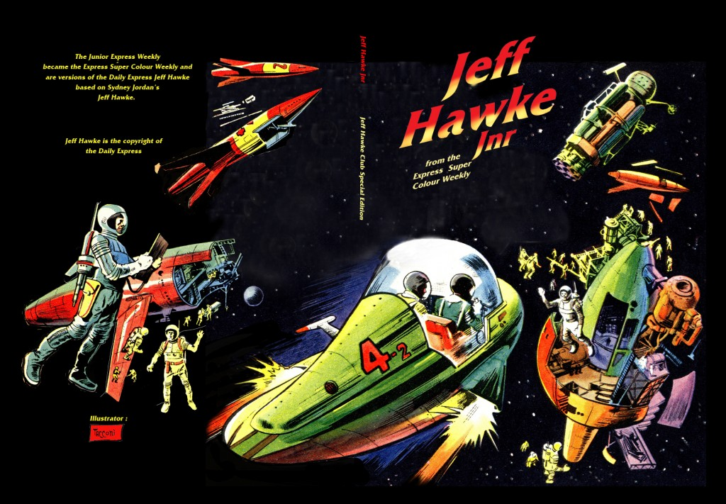 Jeff Hawke Jnr - front and back covers
