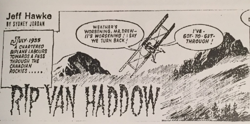 The title frame from Rip van Haddow - April 1963